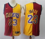 Basketball Cleveland Cavaliers #23 LeBron James Red Yellow Jersey