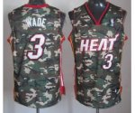 nba miami heat #3 wade camo jerseys