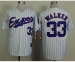 mlb montreal expos #33 walker white 1982 m&n jerseys [blue strip