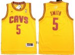 nba cleveland cavaliers #5 smith yellow [revolution 30]