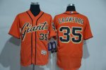 Men's mlb san francisco giants #35 brandon crawford majestic orange flexbase authentic collection jerseys [new]