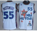 nba 95 all star #55 mutombo white jerseys
