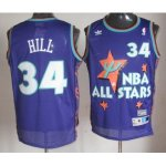nba 95 all star #34 hill purple jerseys
