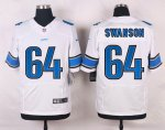 nike detroit lions #64 swanson elite white jerseys