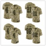 Football Dallas Cowboys Stitched Camo Salute to Service Limited Jersey