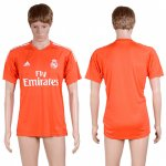2017-2018 Soccer Club Real Madrid Blank Orange Jerseys