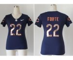 nike women nfl chicago bears #22 matt forte blue [sequins fashio