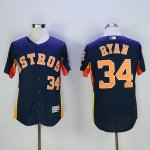 mlb houston astros #34 nolan ryan majestic navy flexbase authentic collection player jerseys