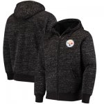 Football Pittsburgh Steelers G III Sports By Carl Banks Discovery Sherpa Full Zip Jacket Heathered Black