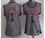 women nba chicago bulls #1 rose grey [static fashion swingman]