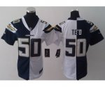 nike women nfl san diego chargers #50 manti teo white and blue [