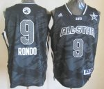 2013 nba all star boston celtics #9 rondo black jerseys