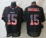 nike nfl chicago bears #15 brandon marshall black [Elite USA fla