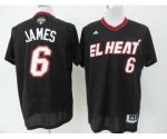 nba miami heat #6 james black jerseys [2014 new]