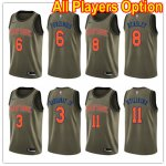Basketball New York Knicks All Players Option Swingman Green Salute to Service Jersey