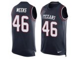 Men's Nike Houston Texans #46 Jon Weeks Navy Blue Team Color Stitched NFL Limited Tank Top Jersey