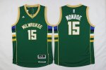 nba milwaukee bucks #15 monroe green 2016 new jerseys