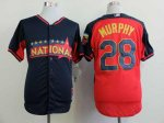 mlb new york mets #28 murphy blue-red [2014 all star jerseys]