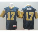 cfl blue bombers #17 moore blue jerseys