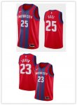 Men's Detroit Pistons Red 201920 Finished Swingman City Edition Jersey