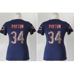 nike women nfl chicago bears #34 walter payton blue [handwork se
