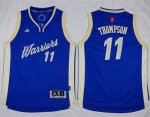 youth nba golden state warriors #11 klay thompson blue 2015-2016 christmas day stitched jerseys