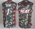 nba miami heat #1 bosh camo jerseys