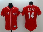 Men's MLB Cincinnati Reds #14 Pete Rose Red Flexbase Authentic Collection Jersey