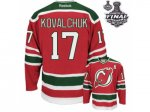 nhl new jersey devils #17 kovalchuk red and green [2012 stanley