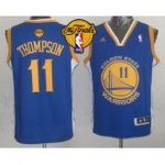 youth nba golden state warriors #11 klay thompson blue 2015 the finals patch stitched jerseys