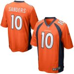 Men's NFL Denver Broncos #10 Emmanuel Sanders Nike Orange Game Jersey