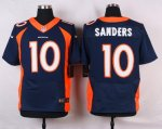 nike denver broncos #10 sanders blue elite jerseys