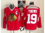 NHL Chicago Blackhawks #19 Jonathan Toews Red Practice 2015 Stan