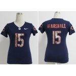 nike women nfl chicago bears #15 brandon marshall blue [handwork