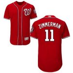 mlb washington nationals #11 ryan zimmerman majestic red flexbase authentic collection player jerseys