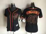 women mlb san francisco giants #40 madison bumgarner majestic black new cool base jerseys