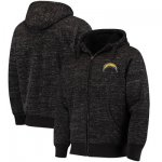 Football Los Angeles Chargers G III Sports By Carl Banks Discovery Sherpa Full Zip Jacket Heathered Black