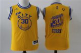 youth nba golden state warriors #30 stephen curry gold throwback the city stitched jerseys