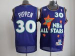 nba 95 all star #30 pippen purple jerseys