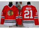 NHL Chicago Blackhawks #21 Stan Mikita Red 2015 Stanley Cup Cham