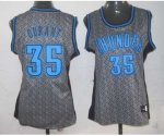 women nba oklahoma city thunder #35 durant grey [static fashion