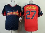 mlb florida marlins #27 stanton blue-red [2014 all star jerseys]