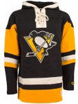 Men NHL Pittsburgh Penguins Heavyweight Jersey Alternate Lacer Hoodie