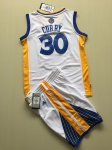 youth nba golden state warriors #30 stephen curry white swingman suit jerseys