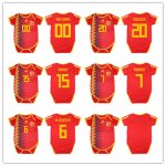 FIFA World Cup Russia 2018 Espana Home Red Soccer Jersey Short Sleeves Baby Jerseys
