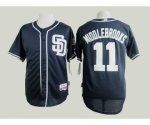 mlb jerseys san diego padres #11 middlebrooks blue[sd]