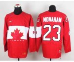 nhl team canada #23 monahan red [2014 world championship]