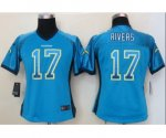 nike women nfl san diego chargers #17 philip rivers lt.blue [Eli