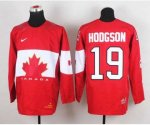 nhl team canada #19 hodgson red [2014 world championship][hodgso