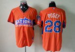 mlb 2013 all star san francisco giants #28 posey oranger jerseys